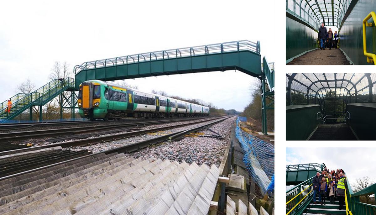 Wire Mesh Railway Footbridge